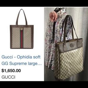 Gucci Bags - Vintage Gucci GG Supreme Canvas Tote Shopper